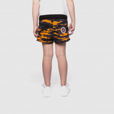 SHORTY KID CAMOUFLAGE BLACK-ORANGE