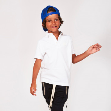 KID POLO WHITE