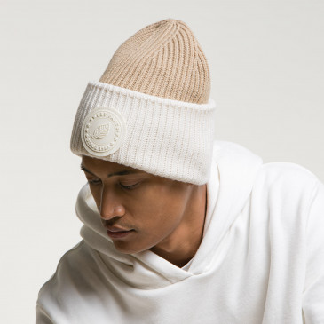 2 TONES BIG BEANY OFF WHITE/CARAMEL