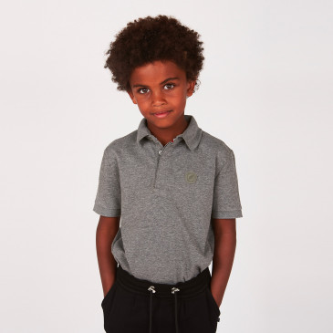 KID POLO DARK MARL