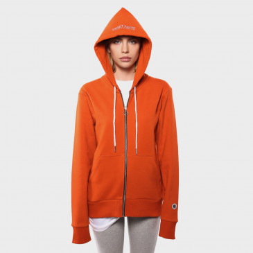 ZIP UP HOOD ORANGE TERRY