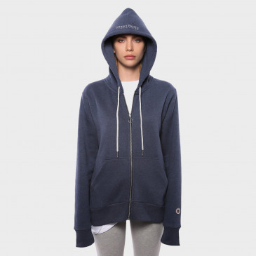 ZIP UP HOOD  NAVY MARL TERRY