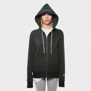 ZIP UP HOOD DARK BOTTLE