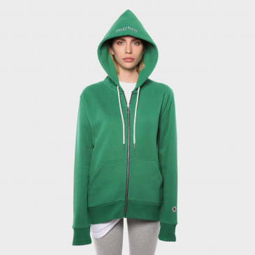 ZIP UP HOOD TERRY MINT TERRY