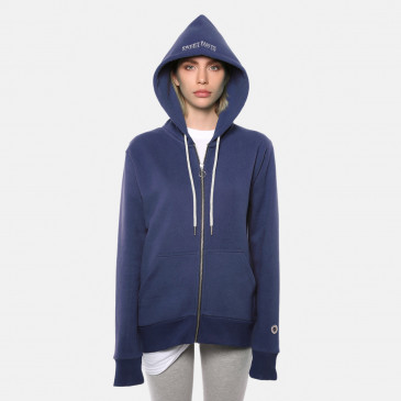 ZIP UP HOOD DENIM TERRY