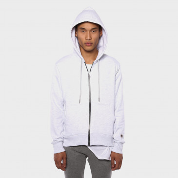 ZIP UP HOOD ICE MARL TERRY