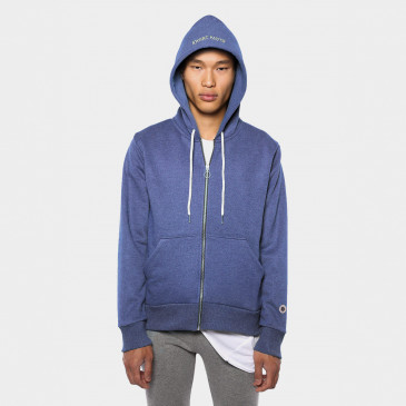 ZIP UP HOOD BLEU SUPREME MARL TERRY