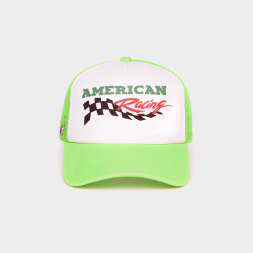 FOAM 2 TONES CAP NEON GREEN RACING
