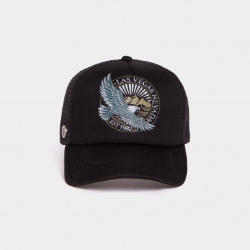 FOAM PRINT CAP BLACK NEVADA