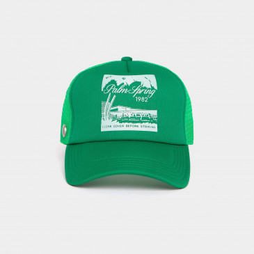 FOAM PRINT CAP MINT PALM