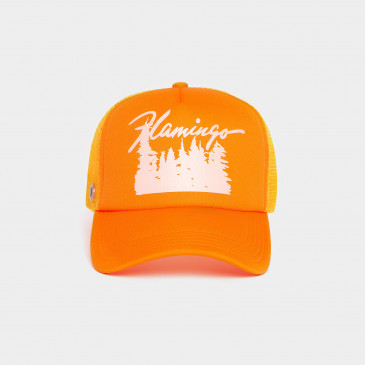 FOAM PRINT CAP ORANGE FLAMINGO