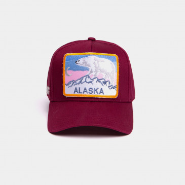 COTTON PATCH CAP BORDEAUX