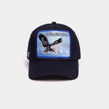 COTTON PATCH CAP NAVY
