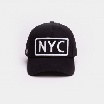 COTTON WORD CAP BLACK