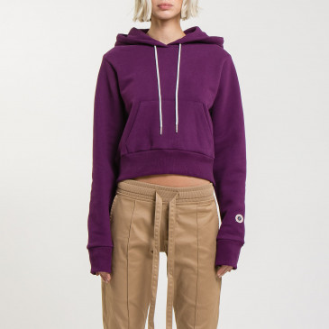 CROP HOOD DARK PURPLE