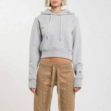CROP HOOD GREY MARL