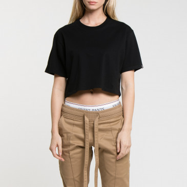 CROP LOGO BLACK