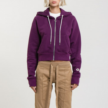 CROP ZIP UP DARK PURPLE