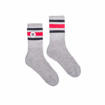 STRIP SOCKS GREY MARL