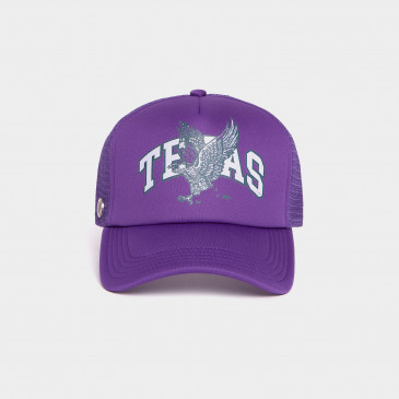 FOAM PRINT CAP PURPLE TEXAS