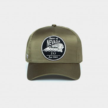 SATIN PATCH CAP KAKI NEVADA