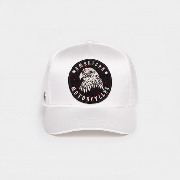 SATIN PATCH CAP OFF WHITE MOTOR