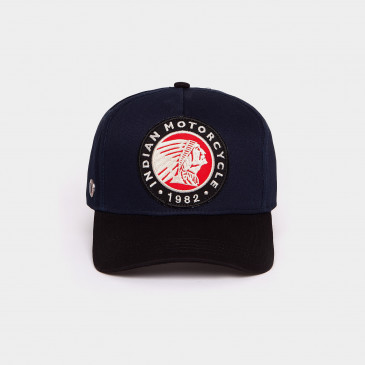 BICOLOR CO PATCH CAP NAVY INDIAN