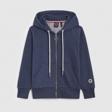 KID ZIP UP HOOD NAVY MARL