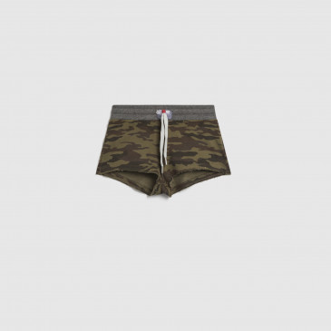 SHORTY KID  CAMOUFLAGE KAKI TERRY