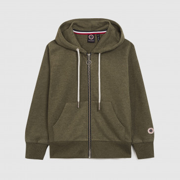 KID ZIP UP HOOD ARMY MARL