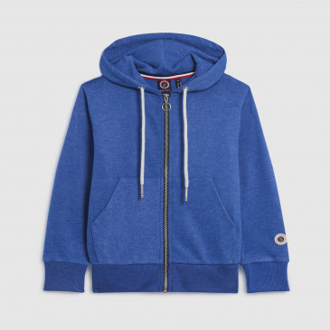 ZIP UP HOOD KID BLEU SUPREME MARL TERRY