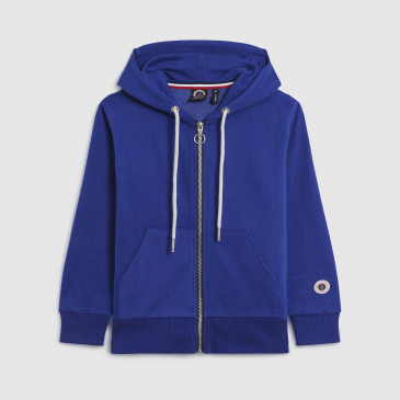 ZIP UP HOOD KID COBALT TERRY