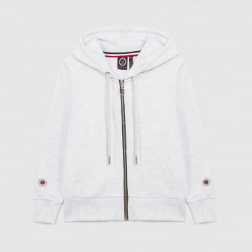 KID ZIP UP HOOD ICE MARL