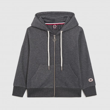 ZIP UP HOOD KID MIDNIGHT TERRY