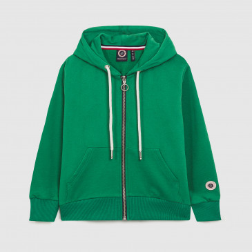 ZIP UP HOOD KID MINT TERRY