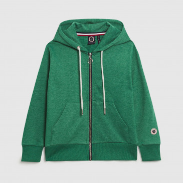 ZIP UP HOOD KID MINT MARL TERRY