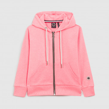 ZIP UP HOOD KID NEON PINK