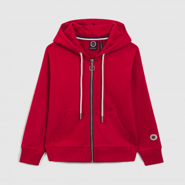 KID ZIP UP HOOD RICK RED