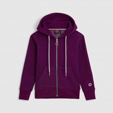 ZIP UP HOOD DARK PURPLE KID