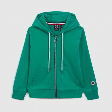 TKID ZIP UP HOOD LASER GREEN