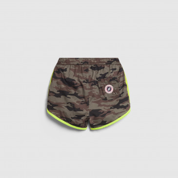 HOLIDAY KID CAMOUFLAGE KAKI-NEON YELLOW