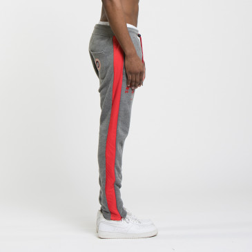TWICE PANT  DARK MARL/RED