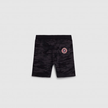 SHORT KID CAMOUFLAGE BLACK TERRY