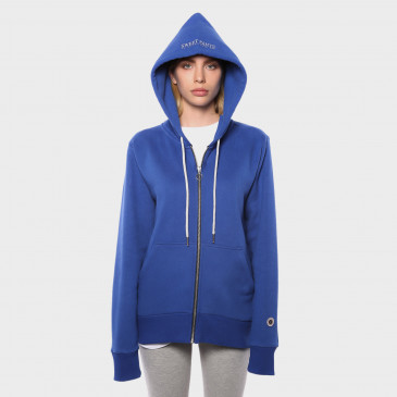 ZIP UP HOOD TERRY BLEU SUPREME