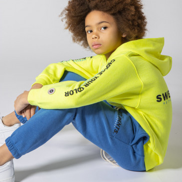 KID PRODUCT HOODIE YELLOW FLUO