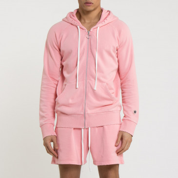 URBAN RAGLAN ZIP UP ROSE