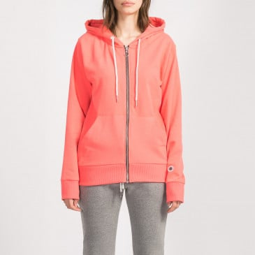 ZIP UP HOOD LASER CORAIL TERRY