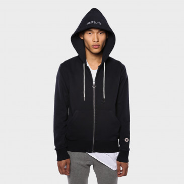 ZIP UP HOOD NAVY TERRY