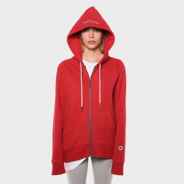 ZIP UP HOOD RICK RED TERRY