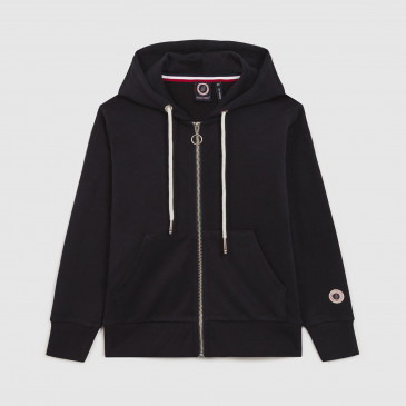 ZIP UP HOOD KID NAVY TERRY
